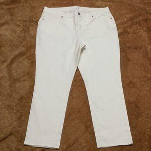 New Directions White Stretch Jeans 14P